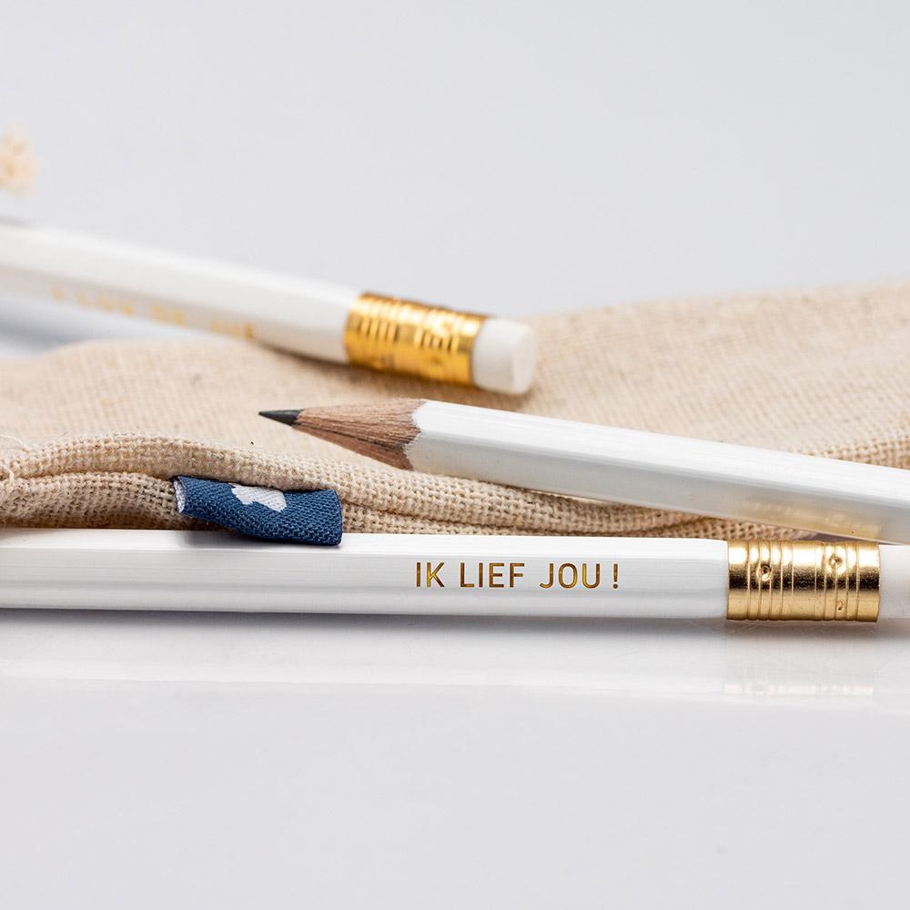 potloden goud ik lief jou